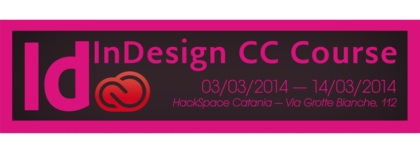 Workshop Indesign cc Course Hackspace Catania