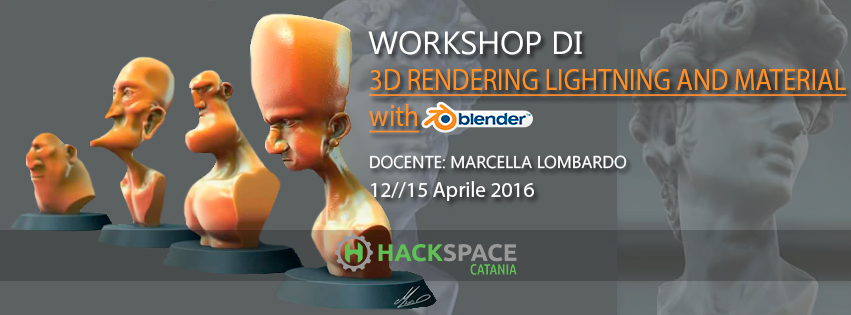 workshop 3d rendering, lighting and material